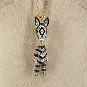New BETSEY JOHNSON Sugar Critters Zebra Necklace
